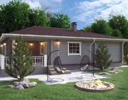 Проекты дачных домов с верандой, террасой и мансардой